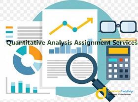 Quantitative Analysis Assignment Services Online